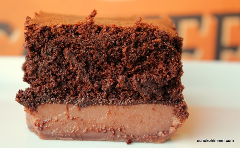 unten Pudding, oben Teig: Schoko-Magic-Cake