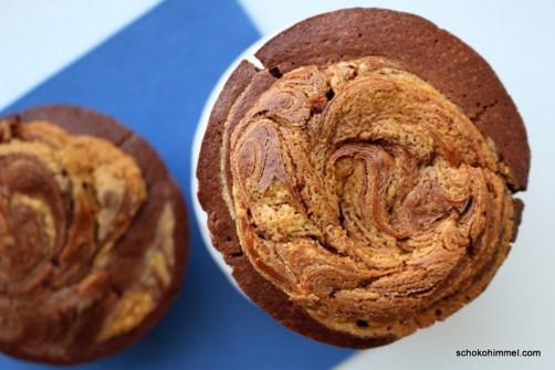 Schoko-Erdnussbutter-Muffins nach Martha Stewart