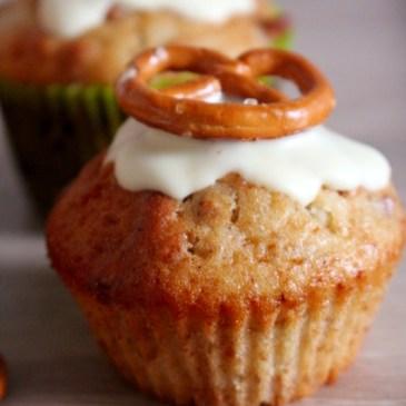 Geschmackssache: süß-salzige Salzbrezel-Muffins