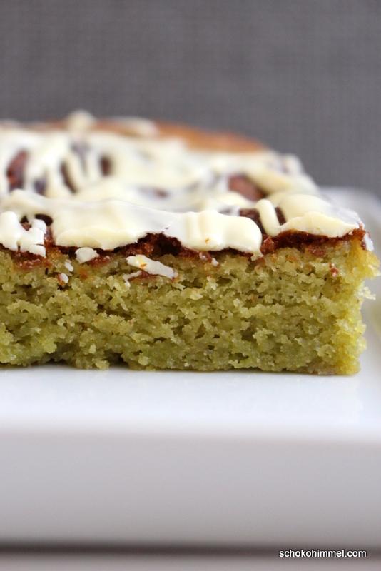 grüne Blondies - weiße Schokolade und Matcha