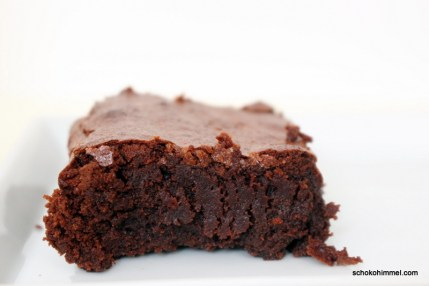fudgy Schwarzbier-Brownies