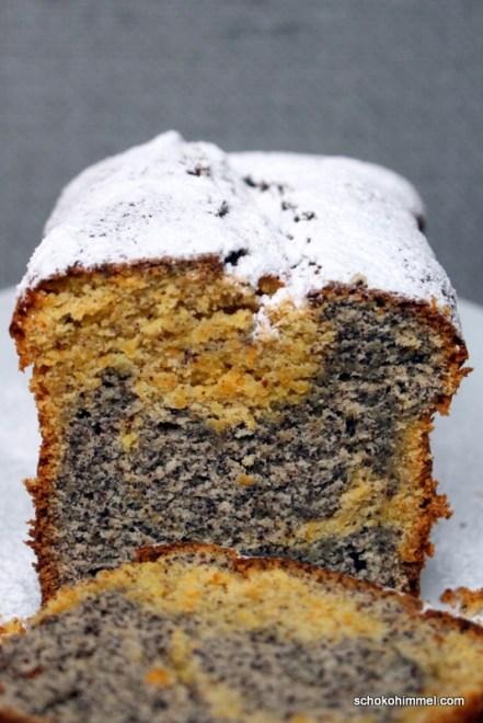 Mohn-Möhren-Marmorkuchen
