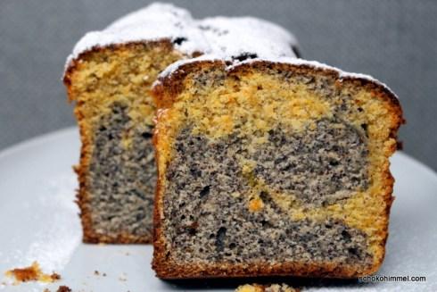 saftiger Mohn-Marmorkuchen