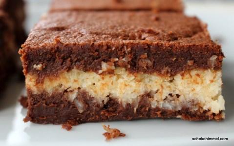 Brownies mit Kokosfüllung