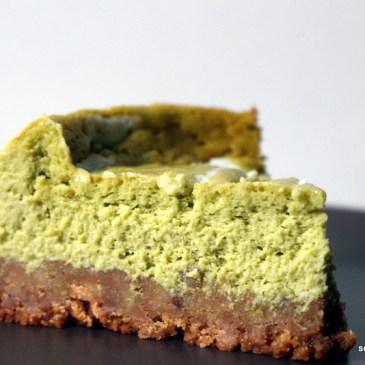 It's teatime again: cremiger Matcha-Cheesecake