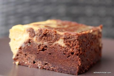 Brownies mit Cheesecake-Creme