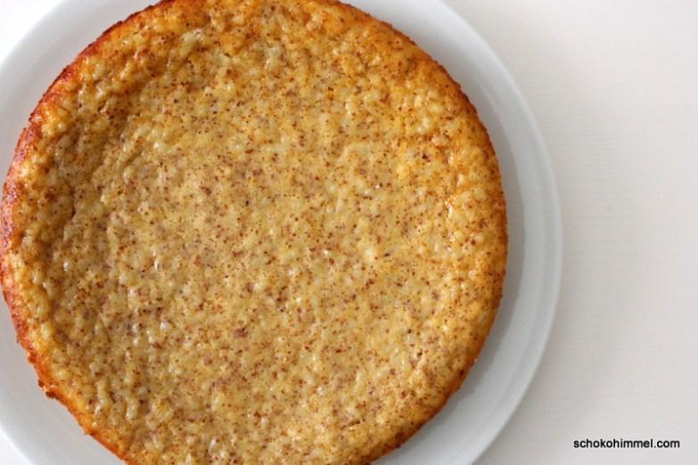 Milchreis-Kuchen frisch aus dem Ofen