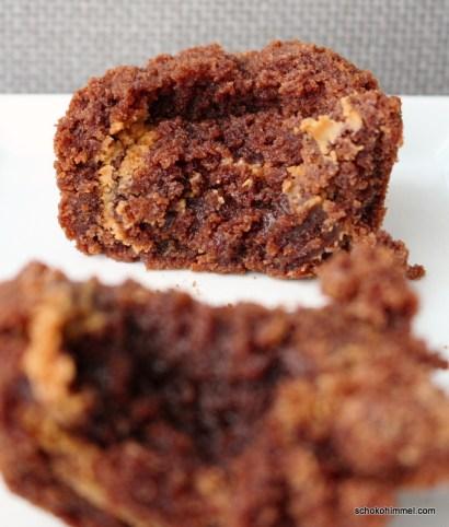 süße Brownies mit Erdnussbutter-Swirl