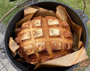 fertig gebackenes Joghurt-Brot