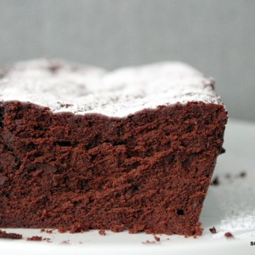 "Supercremig: Moelleux au chocolat mit Karamell [""gebackene Schokolade""]"