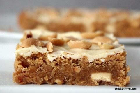 süß-salzige Erdnussbutter-Blondies