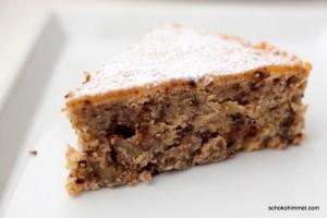 Schoko-Kuchen mit Maronen und Mandeln