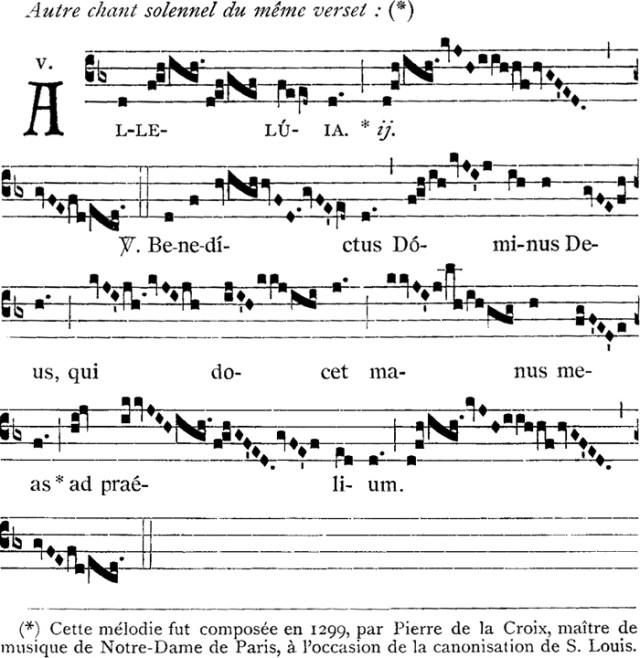 Alleluia de saint Louis, chant de Pierre de La Croix