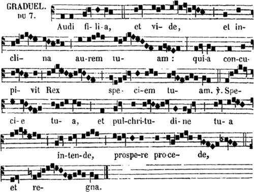graduel de sainte Cécile, vierge & martyre
