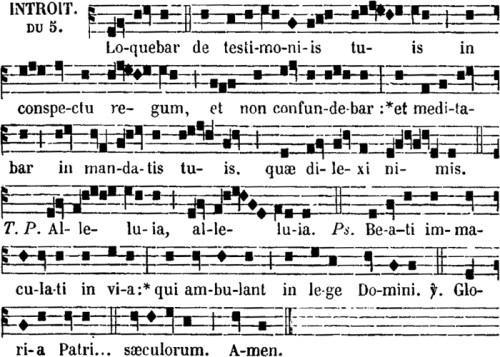 introït de sainte Cécile, vierge & martyre