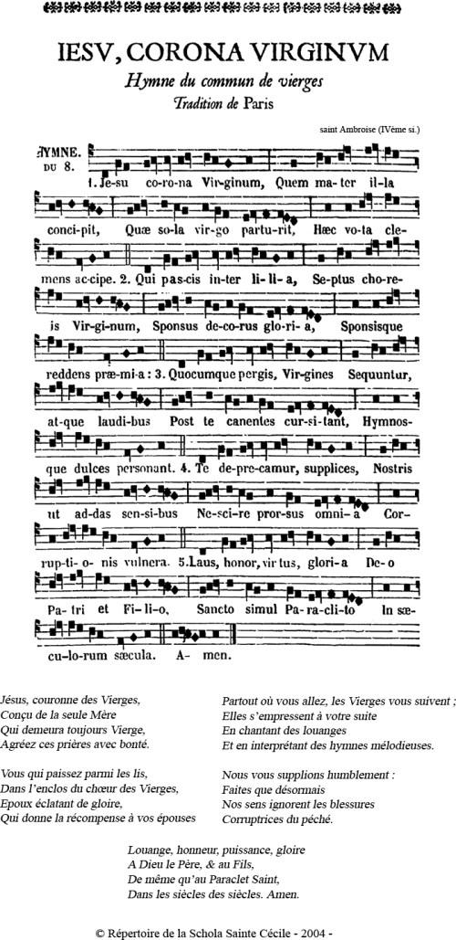 Hymne du commun des vierges