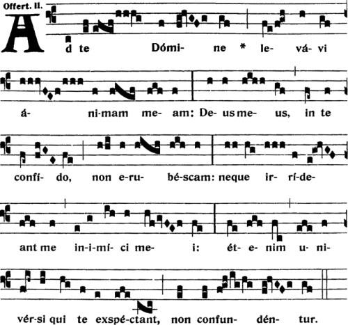 Offertoire du Xème dimanche apres la Pentecote