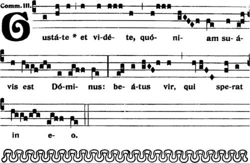 Communion du VIIIème dimanche apres la Pentecote