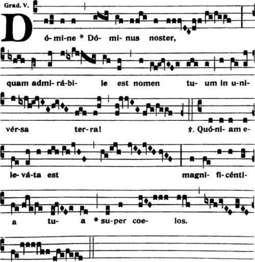 Graduel du IXème dimanche apres la Pentecote