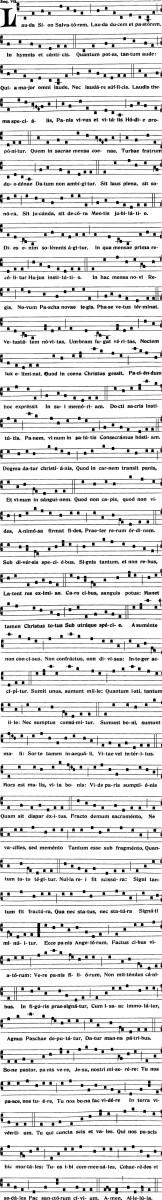 Fête-Dieu - Séquence Lauda Sion - Graduale Romanum 1905