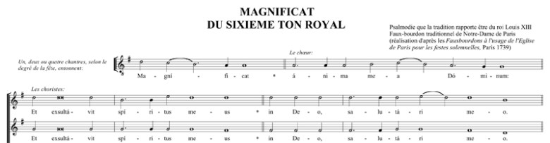 Magnificat sur le ton royal