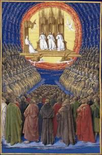 Jean Fouquet - La Trinité, la Vierge & tous les saints
