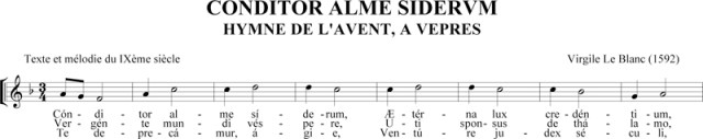Virgile Le Blanc, Conditor Alme Siderum