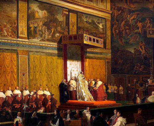 Pie VII à la Chapelle Sixtine