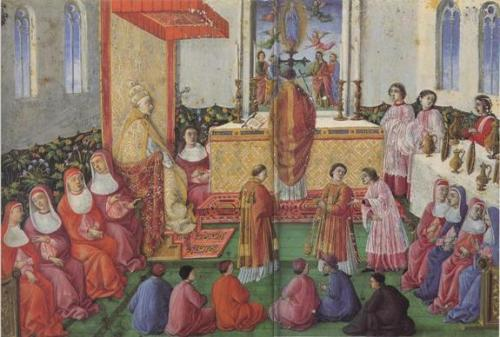Messe devant Sixte IV
