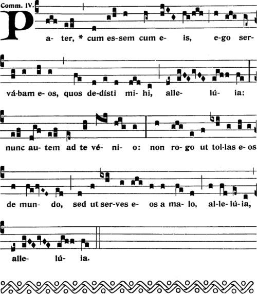 Communion du dimanche dans l'octave de l'Ascension