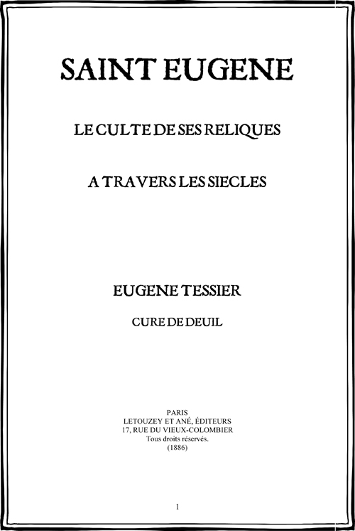 saint Eugène, histoire