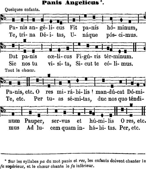 Panis angelicus à une voix du Vème ton - tradition langroise