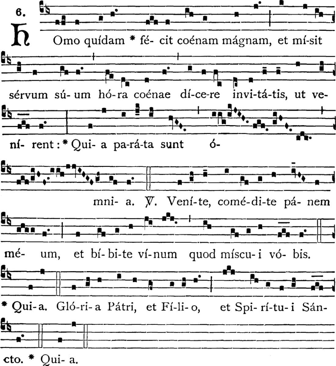 Homo quidam - répons du Très-Saint Sacrement