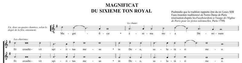 Anonyme, Magnificat sur le ton royal