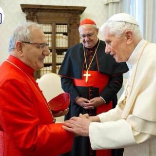 Le nouveau Patriarche Louis Raphaël Ier des Chaldéens avec le Pape Benoît XVI