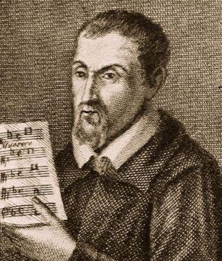 Gregorio Allegri tenant en main la partition de son célèbre Miserere