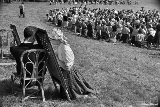 Confessionnal portatif - pèlerinage de Chartres 1953