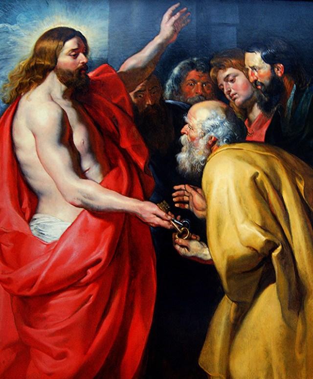 Rubens : le Christ remet les clefs à saint Pierre