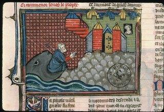 Jonas est rejeté par la Baleine devant Ninive