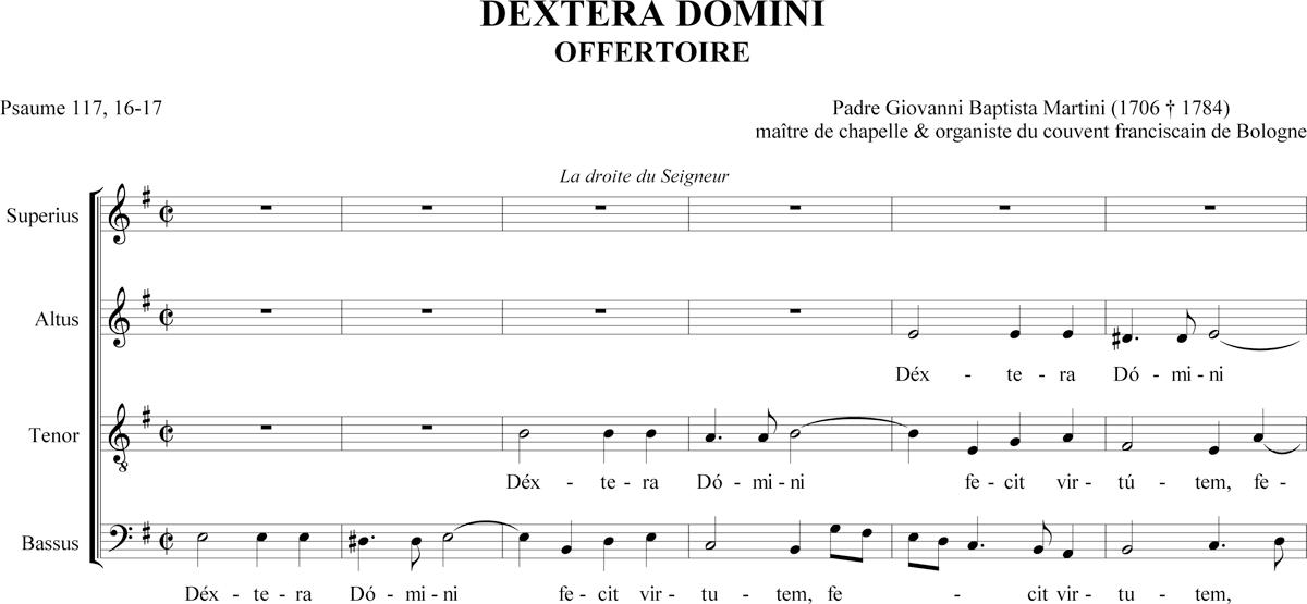 Padre Martini - Dextera Domini