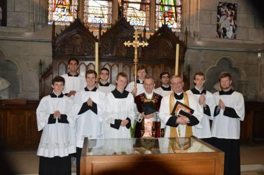 17 - Messe de départ célébrée par M. l'Abbé Iborra dans Notre-Dame-de-Paris - vigile de la Pentecôte - à la sacristie