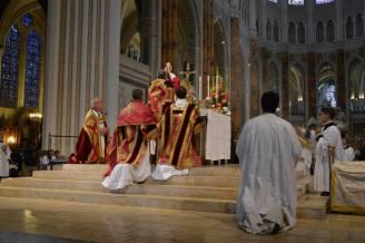 35 - Messe pontificale du lundi de Pentecôte célébrée par Mgr Aillet dans la cathédrale de Chartres - à l'élévation du Corps du Seigneur
