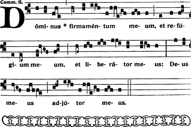 Communion - Dominus firmamentum meum - ton 2