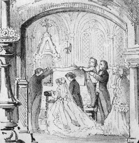 Jour de Noce - Quadrille d'Edouard Detraux - 13 août 1866 - détail