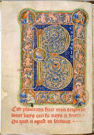 Le Psaume 1 - Beatus vir - Psautier de saint Louis