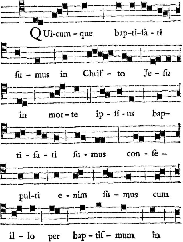 Quicumque baptizati sumus in Christo - plain-chant de Verneuil - 01