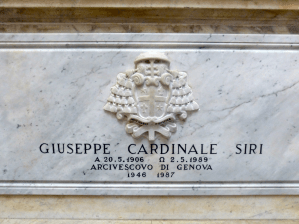 04 - La tombe du cardinal Siri dans la cathédrale de Gênes