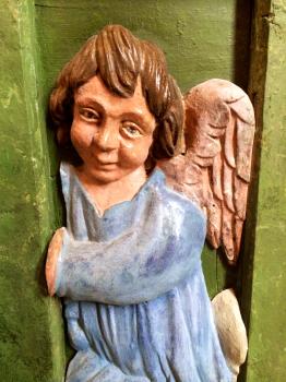 09 Ange - détail d'un autel de la collégiale Saint-Martin de Bollène