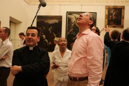 18 - Après la messe, visite privée de l'évêché d'Albenga (les Films du Lutrin tournent !)