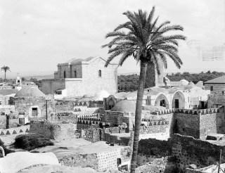 L'église Saint-Georges de Lydda vers 1920